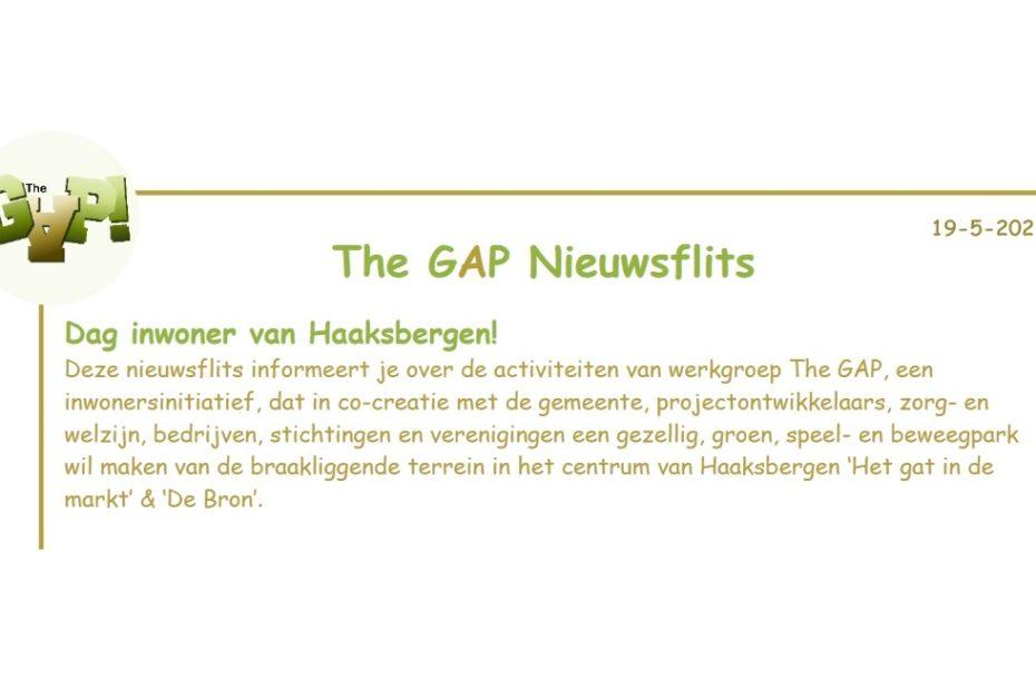 The Gap Nieuwsflits header 2